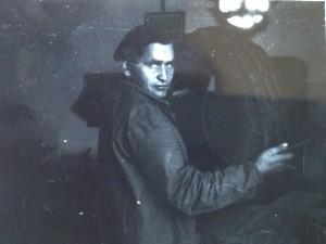 Marian Białobrzeski podczas pracy